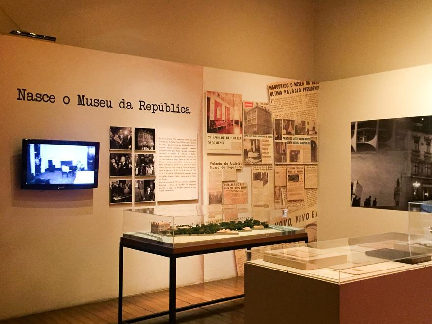 exposição do museu da republica no palacio do catete
