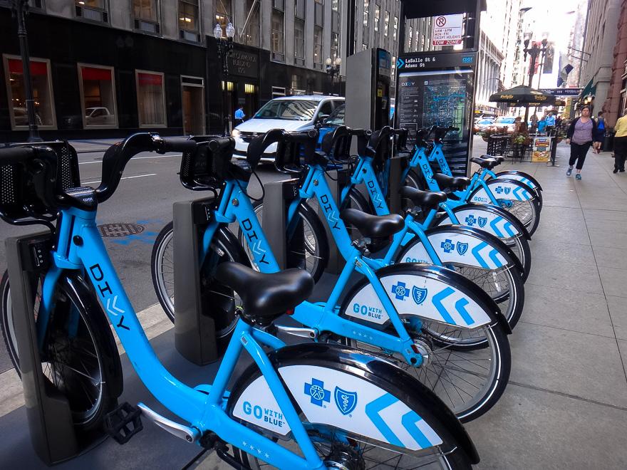 bicicleta do sistema de aluguel de bike divvy de chicago