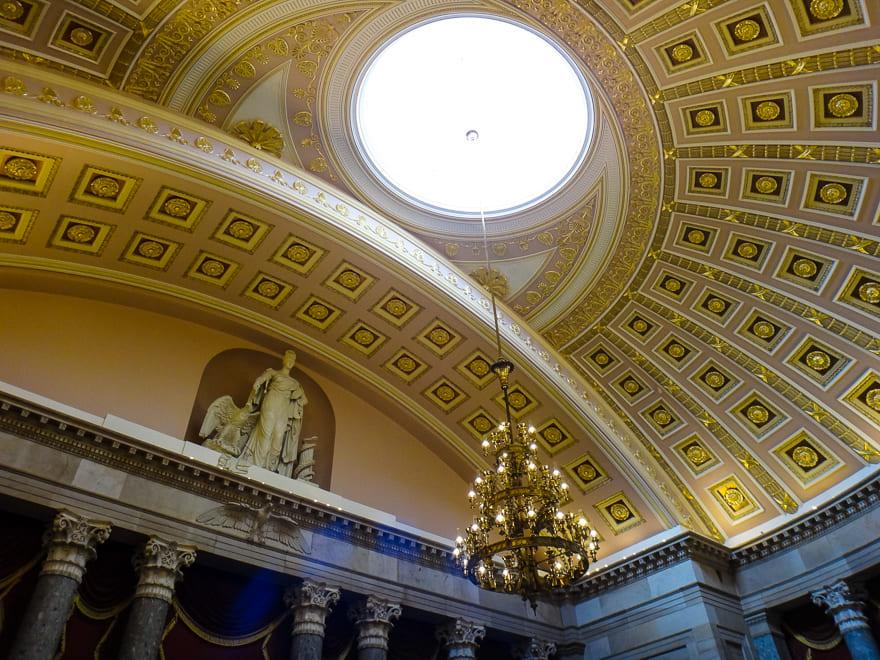 capitolio washington detalhe predio - Visita guiada no Capitólio em Washington DC - EUA